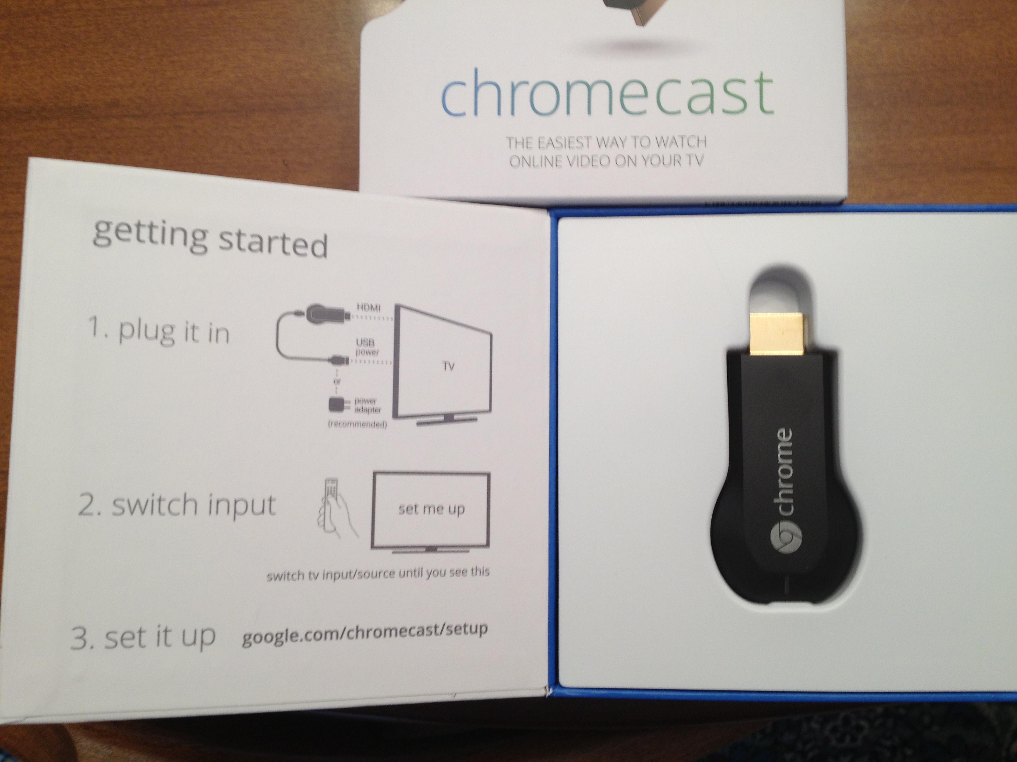 Google Chromecast Unboxing And Setup