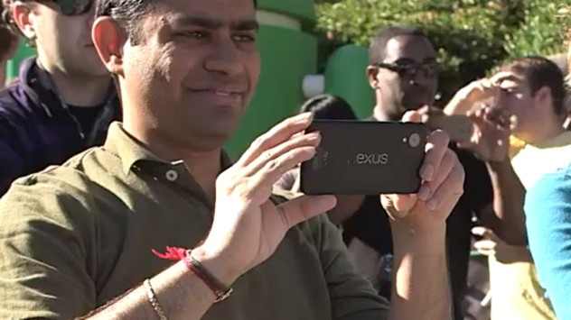 A recent promotional video for KitKat showed someone with an unknown Nexus device.