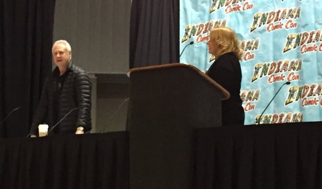 Brent Spiner enters his Indiana Comic Con panel. Photo by Michelle Ealey