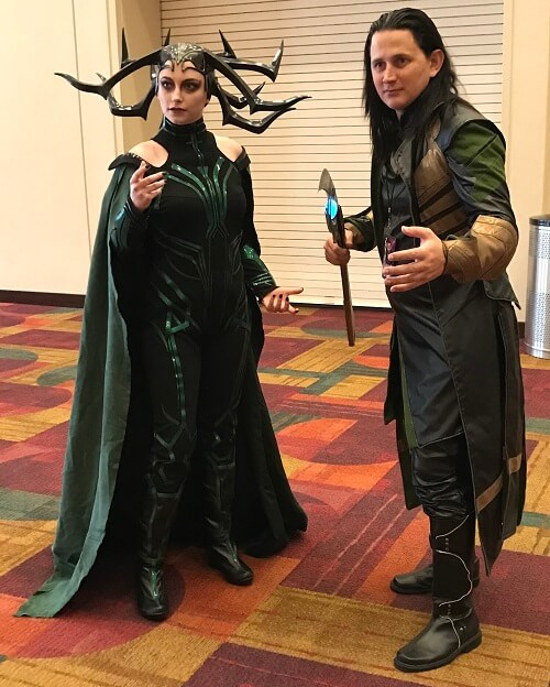 Hela and Loki cosplay