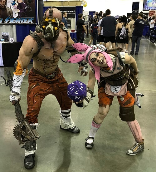 Krieg the Psycho and Tiny Tina cosplay