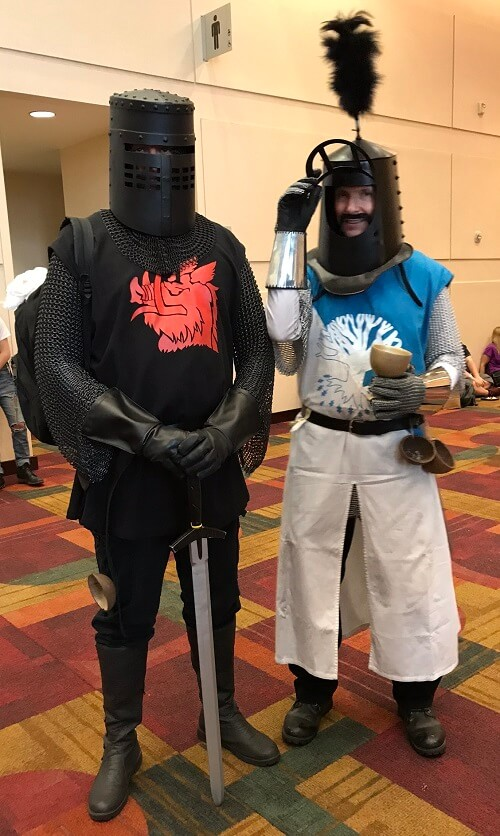 King Arthur and the Black Knight cosplay