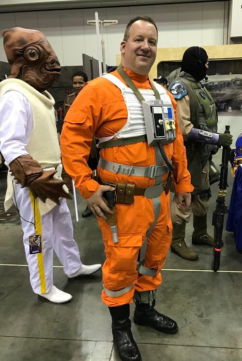 Admiral Ackbar and Rebel pilot cosplay
